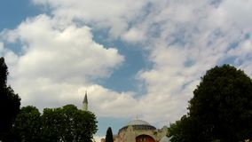 Mosque and clouds timelapse stock footage