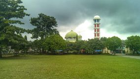 Mosque. In Cloudy Stock Photography