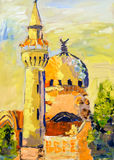 Mosque Constanta Romania Islam church painting Royalty Free Stock Image