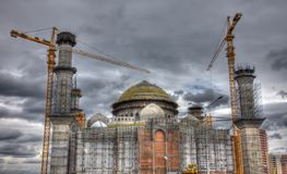 Mosque construction. Royalty Free Stock Image