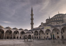 Mosque courtyard Stock Photo