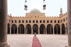 Mosque courtyard. With arcaded corridors at Citadel in Cairo Stock Photo