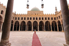 Mosque courtyard Royalty Free Stock Photo