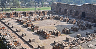Mosque Courtyard at Purana Qila or Old Fort Delhi Stock Images