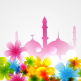 Mosque covered with flowers Stock Photos
