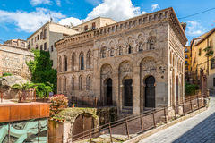 Mosque Cristo de la Luz in der alten Stadt von Toledo Lizenzfreies Stockbild