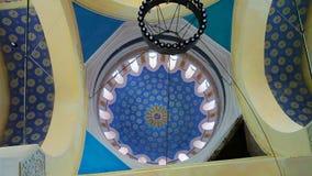 Mosque Cupola Interior. Interior of Carol I mosque cupola in Constanta, Romania stock video