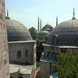 Mosque cupolas. In Istanbul, Turkey Stock Photo
