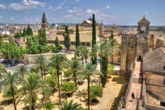 Mosquée d'Alcazar et de cathédrale de Cordoue, Espagne Photos libres de droits