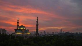 Mosquée de territoire fédéral en Kuala Lumpur Images libres de droits