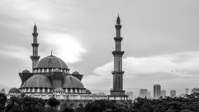 Mosquée de territoire fédéral en Kuala Lumpur Image libre de droits
