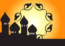 Mosque decorative - vector Stock Photography
