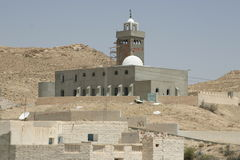 Mosque in the desert oasis Royalty Free Stock Photography
