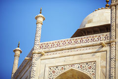 Mosque detail of the dome and pillars Royalty Free Stock Photos