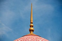 Mosque dome. And blue sky Stock Image