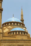 Mosque dome and minaret Royalty Free Stock Images