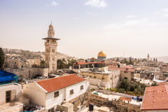 The mosque and Dome of the Rock, Jerusalem, Israel Stock Image