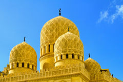 Mosque domes. Detail of ancient mosque domes and minarets Stock Photography