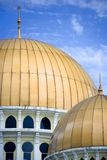 Mosque domes and minaret  Royalty Free Stock Photo