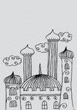 Mosque doodle Stock Photo