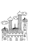 Mosque doodle Stock Photos