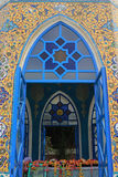 Mosque door blue for islamic. Building Royalty Free Stock Images