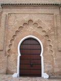 Mosque Doorway. An ornate mosque doorway in Marrakech, Morocco Stock Photography