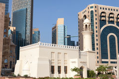Mosque downtown in Doha, Qatar Royalty Free Stock Photos
