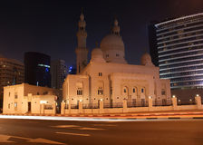 Mosque in Dubai at night, UAE Royalty Free Stock Photo