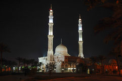 Mosque in Egypt at night. Royalty Free Stock Photos
