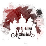 Mosque for Eid-Al-Adha Celebration. Creative Mosque on abstract background for Muslim Community, Festival of Sacrifice, Eid-Al-Adha Mubarak, Vector greeting Royalty Free Stock Image