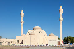 Mosque in the emirate of Fujairah Royalty Free Stock Photography