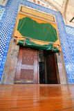 Mosque Entrance. Door of a Mosque in Istanbul, wide angle, ground level Stock Image