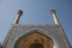 Mosque entrance, isfahan, iran Stock Photography