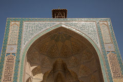 Mosque entrance, isfahan, iran Royalty Free Stock Images
