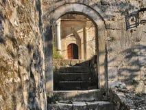 Mosque entrance. Old mosque entrance at Pocitelj Stock Photos