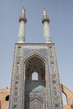 Mosque entrance,yazd, iran Royalty Free Stock Photos