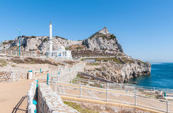 Mosque at Europa Point on Gibraltar Stock Photos