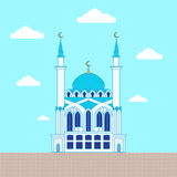 Mosque. Flat design building, poster template Royalty Free Stock Photo