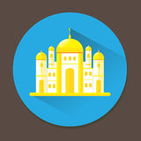 Mosque flat icon design Royalty Free Stock Image