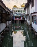 Mosque in floating village Royalty Free Stock Image