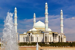 Mosque and  fountain Stock Images