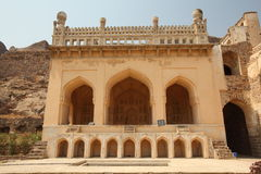 Mosque at Golconda Fort, Hyderabad Royalty Free Stock Photo