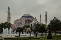 The mosque of Hagia Sophia royalty free stock photo