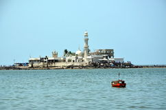 Mosque  Haji Ali in Mumbai Royalty Free Stock Photo