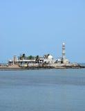 Mosque Haji Ali in Mumbai. India stock image