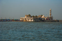 Mosque Haji Ali. Mumbai, India. Mosque in middle of the sea in Mumbai. Haji Ali Royalty Free Stock Image
