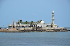Mosque Haji Ali in Mumbai. India.  Mosque was built in 1431 in memory of a rich Muslim merchant Royalty Free Stock Images