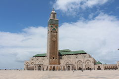 Mosque hassan 2 casablanca. (away). Full view Stock Images