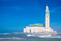 Mosque Hassan II Royalty Free Stock Photo